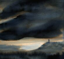 Towards Scrabo by Les Sharpe