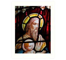 Stained glass window, St Mary Magdalene church, Adlestrop, UK Art Print