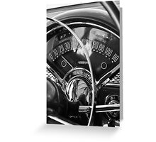 '55 Chevy Bel Air Gauges Greeting Card