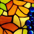 """Stained Glass Grapes - Reproduction of Tiffany """"Grape"""" Pattern by Betty Northcutt"""