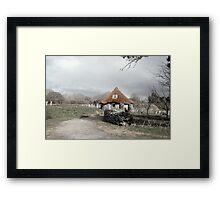 ancient rustic cottage Framed Print