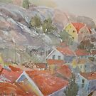 Red Roofs Two by Peter Lusby Taylor