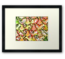 Retro Love Framed Print