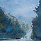 Between the Showers on HWY 101 by JennyArmitage
