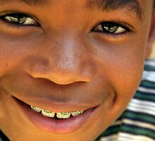 Smiling Young Boy by Denice Breaux