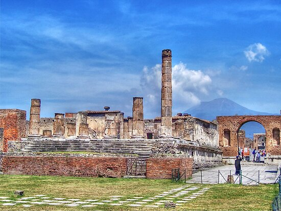 The Temple of Jupiter, Pompeii. by Colin Metcalf