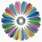Rainbow Flower T Shirt by simpsonvisuals