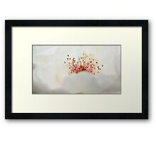 Milky froth Framed Print