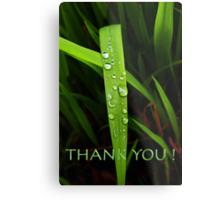 simple grassblade thank you Metal Print