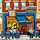 ST. VIATEUR BAGEL WITH HOCKEY GAME by Carole  Spandau