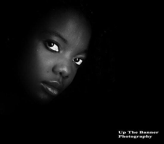 African American Ebony Female Portrait by upthebanner