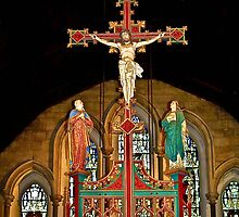 Crucifix - St Mary's Priory Church - Monmouth by missmoneypenny