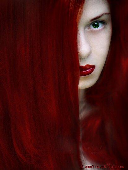 While her lips are still red by Amalia Iuliana Chitulescu