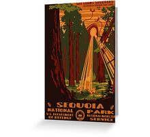 Sequoia National Park Poster Greeting Card