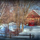 Rustic Winter Barn by Monica M. Scanlan