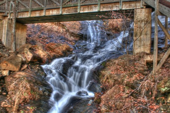 A little part of Amicalola Falls by Chelei