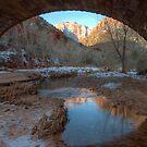 Pine Creek Bridge View by Clayhaus