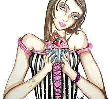 Cupcake Sweetheart by Katz Karma