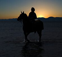 Riding at sunset by Alfonso Fernandez