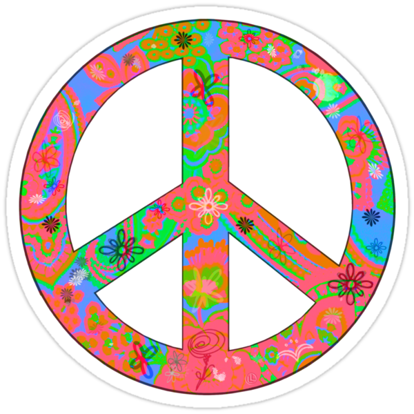 Peace T shirt or sticker by Linda Lees
