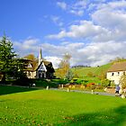 Ilam Primary School and Cottages by Rod Johnson