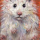Impressionistic Hamster animal painting Svetlana Novikova by Svetlana  Novikova