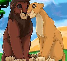 The Lion King 2: Kovu And Kiara  by Caroline Smalley