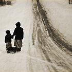 Amish Girls on the Road by Diane Blastorah