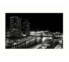 Night time - Chicago, IL Art Print