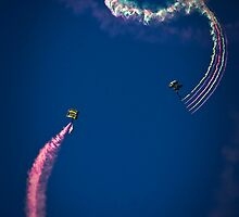 Naval Aviation Parachuters Abstract In the Sky  by heatherfriedman