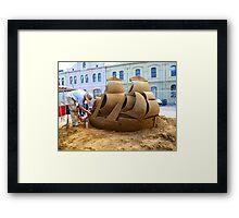 Ship of Sand Framed Print