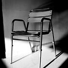 Chair in Gray, White and Black by vanyahaheights
