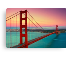 Golden Gate Bridge - Sunset Canvas Print