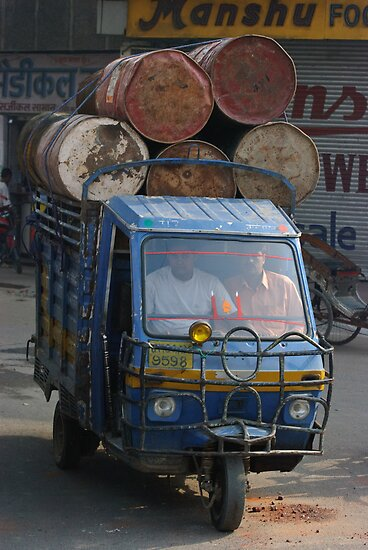 Overloaded Tuk-tuk, Jaipur, India by Christopher Cullen