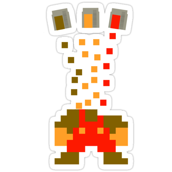 Pixel Drop Mario by Baardei