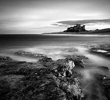 Bamburgh at High Tide by Jeanie