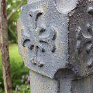 Old Iron Fence Post - North Carolina by Glenn Cecero