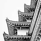Steps in the Sky [Himeji detail 2] by Mitja Kobal