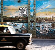 Mumbai Mural, Taxi by Ignacy Zulawski