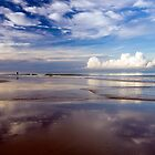 Cloud reflections - Khuek Khak beach by Kevin Hellon