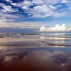 Cloud reflections - Khuek Khak beach by Kevin Hellon