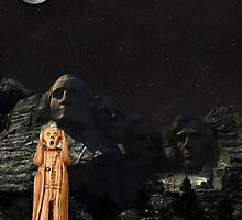 The Scream World Tour Mount Rushmore by Eric Kempson