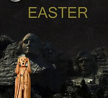 The Scream World Tour Mount Rushmore Happy Easter by Eric Kempson