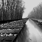 Low view of tracks.....One-track mind by jammingene