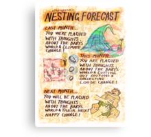 Pregnancy: Nesting Forecast Metal Print