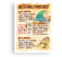 Pregnancy: Nesting Forecast Canvas Print