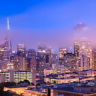 Mist over the San Francisco skyline by Justin Foulkes