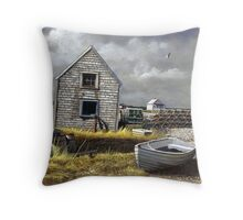 """Dark Skies Over Pembroke"" Throw Pillow"