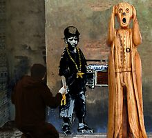 The Scream World Tour street art by Eric Kempson
