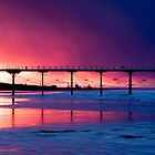 Saltburn Pier Sunset by Dave Hudspeth